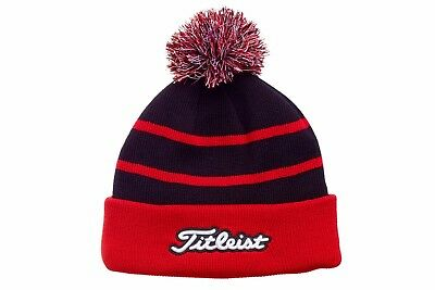 Titleist Golf 2017 Pom Pom Beanie Winter Hat - Black/Red