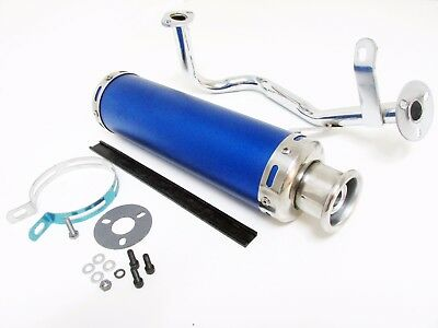 Performance Exhaust Muffler System Assembly for GY6 50cc Scooter - BLUE
