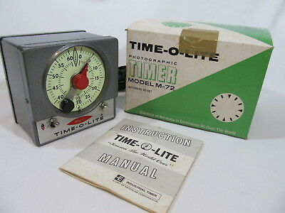 Vtg Master TIME-O-LITE M-72 Darkroom Photographic Timer with Auto Reset