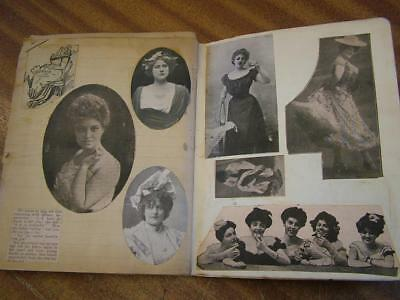 Early 20th Century Scrap Book. Mainly Womens Fashion