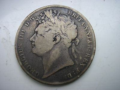 Coin : 1823 Halfcrown, King George IV, British Sterling Silver