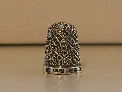 Lovely Henry Griffiths & Sons (10) Silver Thimble Hallmarked Chester 1895