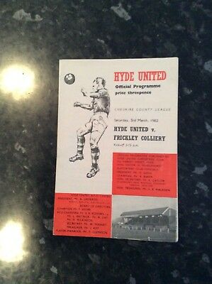 Hyde United V Frickley Colliery 03.03.1962