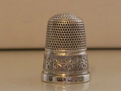 Nice Charles Horner Silver Thimble Hallmarked Chester probably 1930s