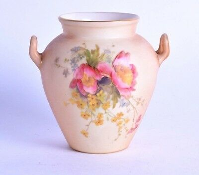 royal worcester porcelain vase - blush ivory violet vase  - dated 1903 shape 544