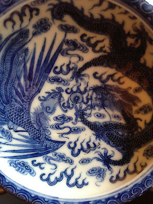 Important and Rare Chinese Qianlong Mark and Period Dragon Brush Washer.