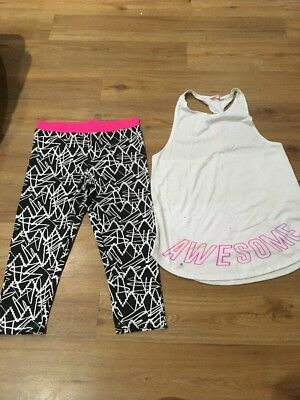 girls running leggings And Top Age 13 - 14