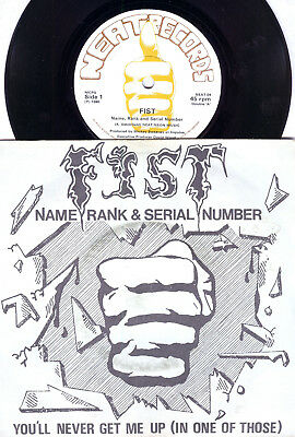 "FIST - Name Rank And Seriel Number -  Neat Records 7"" - 1980 (NWOBHM) - EX+"