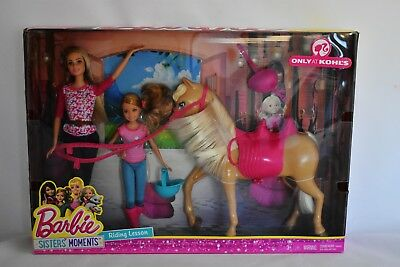 Mattel Barbie Sisters Moments Riding Lesson & Accessories - NIB