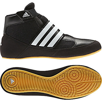 Adidas Havoc Kids Wrestling Shoes Boots Trainers Childrens Black Velcro Strap