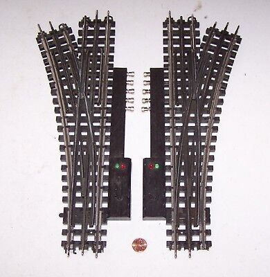 O Gauge K-Line Snap-Track One Pair of Switches (L&R) w/Controllers Lot R17-29