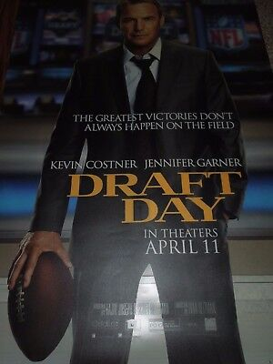 DRAFT DAY MOVIE POSTER KEVIN COSTNER LARGE Bus Stop poster / Bus Shelter