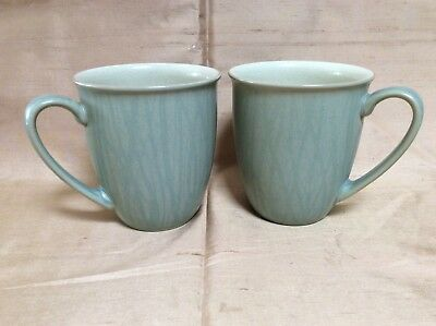 Denby Pair Green mugs