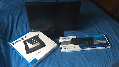 Hanns G 19.5 monitor, USB Keyboard Boxed And Laptop Stand Boxed All New