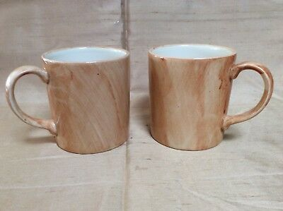 Poole Pottery Pair Orange mugs