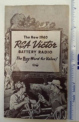 """Rare Canadian (Montreal, Que.) """"1940 Rca Victor Battery Radio"""" Product Brochure"""