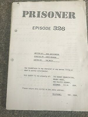 prisoner cell block h Script For Episode 326 The Great Fire Of Wentworth