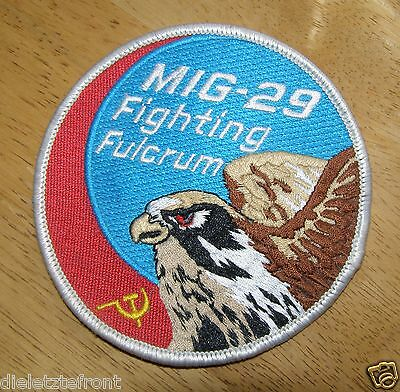 "SOVIET RUSSIAN AIR FORCE USSR ""MIG-29 Fighting Fulcrum"" BADGE UNISSUED"