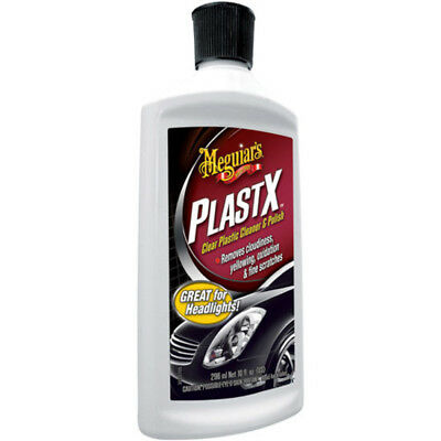 Meguiar's Plast-X Clear Plastic Cleaner and Polish Makes clear plastics