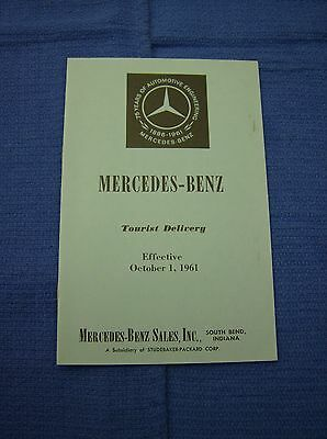 1961 Mercedes-Benz Tourist Delivery Charges Booklet, for European Cities