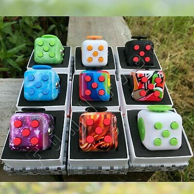Figit Fiddle Cube Fidget Box Fidgit Desk Toys Figet Cubes Adult Kids Children UK
