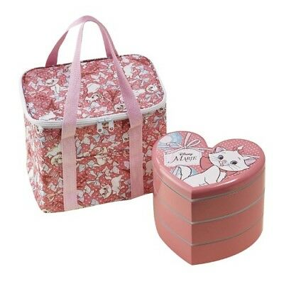 Disney Marie Lunch Box and Cold Storage Bag Set from Japan F/S