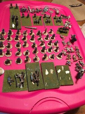Painted 25mm Painted ACW CSA Soldiers (60) Figures Metal On Bases