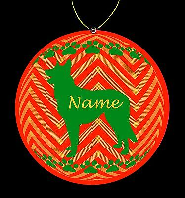 Belgian Malinois Breed Personalized Christmas Ornament