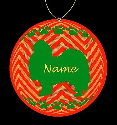 Japanese Chin Breed Personalized Christmas Ornament