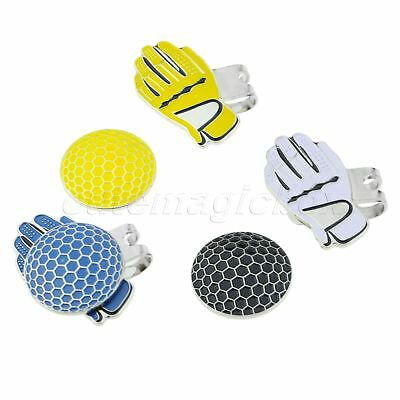 Personalised Glove Design Alloy Hat Clip With Strong Magnetic Golf Ball Marker