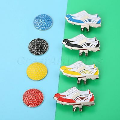 1Pc Shoes Design Magnetic Hat Clip Removable Golf Ball Marker Great Decoration