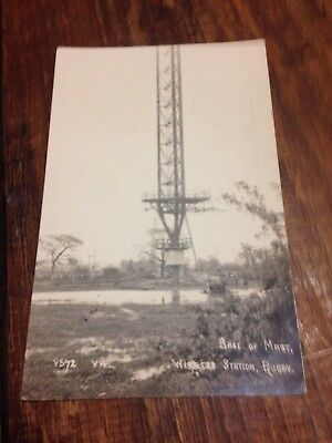 Base of Mask Wireless Station Rugby postcard