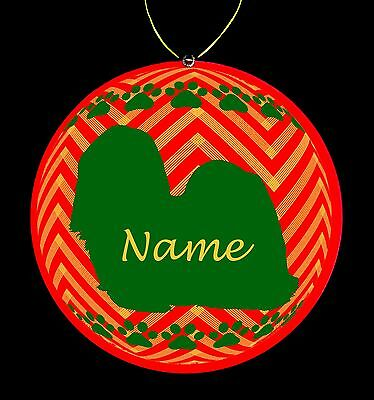 Shih Tzu Breed Personalized Christmas Ornament