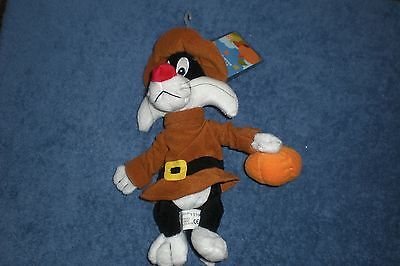 Warner Brothers Thanksgiving1999 SYLVESTER PILGRIM 9-Inch  Bean Bag Plush NEW