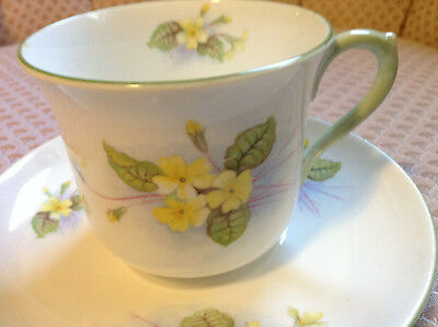 Vintage Shelley Primrose Cup and Saucer #13430. Nice!