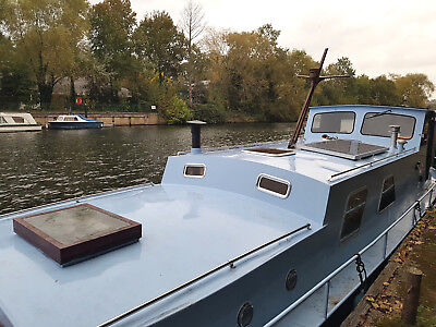 Fully liveable 41ft classic widebeam Dutch barge, 9.2 ft beam