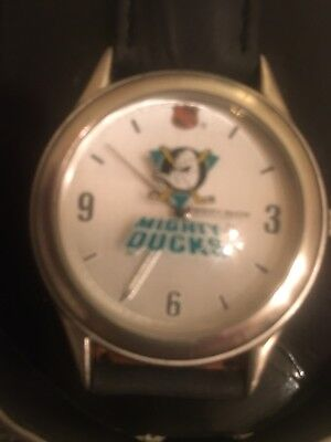 1993 ANAHEIM MIGHTY DUCKS FOSSIL NHL WATCH - LIMITED EDITION - BRAND NEW in TIN