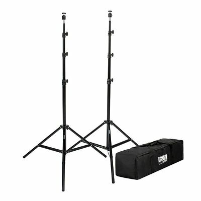 "Fovitec  StudioPRO - 2x 76"" Light Stand VR Compatible Kit w/ Ball Head Mount -"