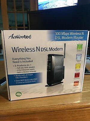 Actiontec GT784WN 300 Mbps 4-Port 10/100 Wireless N Router (GT784WN-01)