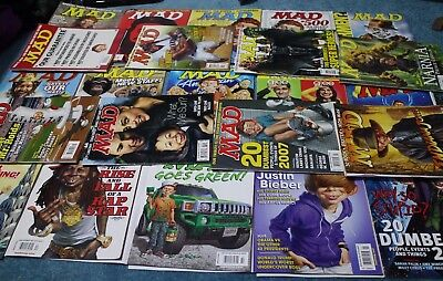 Mad Magazines #462 #464 #468 #469 #472 #477 #483 #485 to #492 #494 #496 and more