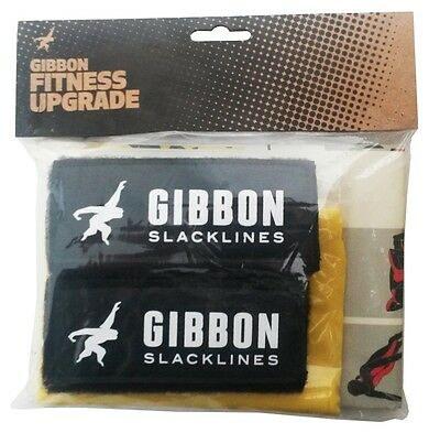 Gibbon FITNESS Upgrade Slackline Accessorio, Nero/Giallo