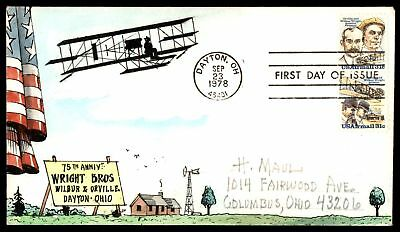 Mayfairstamps Wright Bros 1978 Herman Maul Hand PainteD Airmail FDC Unsealed Fla