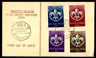 Mayfairstamps Maldive Isalnds World Scout Jamboree Set 1963 FDC first Day cover