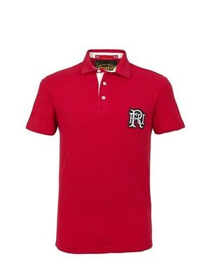 (2X-Large, Z76 Red) - Front Up Rugby Men's Short Sleeve Polo T-Shirt