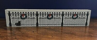 Cat's Meow Village 1990 Wrought Iron Fence Accessories RETIRED Double Sided