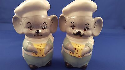 Htf 1977 Anthropomorphic Mice Chefs Alberta's Mold Inc Salt Pepper Shakers 5.5""