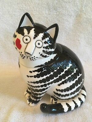 Adorable Kliban Cat Covered Candy Jar Kiss On Face Sigma NR