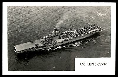 Mayfairstamps USS Leyte CV 32 Ship Real Photo Picture Postal