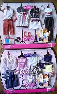 NIP, 2 Barbie multi-fashion packs, Let's Shop and It's a Date, 2007,