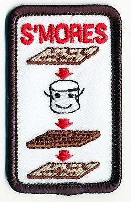 Girl Boy Cub HOW TO MAKE SMORES Patches Crest Badge SCOUT GUIDE campfire s'mores